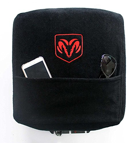 Seat Armour Custom Fit Officially Licensed Center Console Cover with Ram Embroidered Logo for Select Ram Models - (Black) (Custom Center Console compare prices)