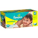 Pampers Swaddlers Diapers Size 5 Giant Pack 92 Count