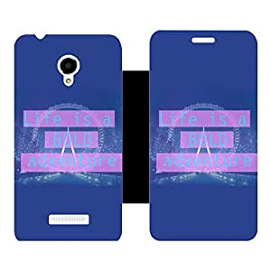 Skintice Designer Flip Cover with Vinyl wrap-around for Micromax Canvas Doodle 4 Q391, Design - adventure