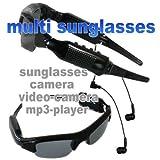 写真、ビデオ撮影や音楽が聴ける多機能サングラス!スポーツ型ビデオカメラ マルチサングラスFS-SD100-2GB