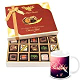 Chocholik Luxury Chocolates - Rich Treat Of Pralines Chocolates With Birthday Mug