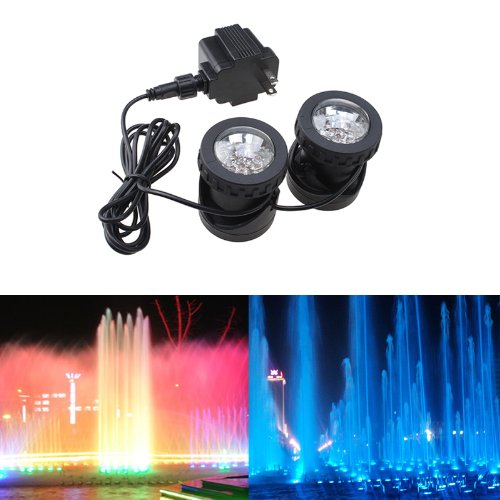 Image® 25W 200Ma Underwatar Submersible 2 Led Landscape Spot Light Set Energy Saving For Fountain Fish Pond Tank Water Garden