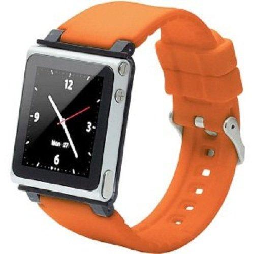 iWatchz CLRCHR22ORG Q Collection Wrist Strap for iPod Nano 6G