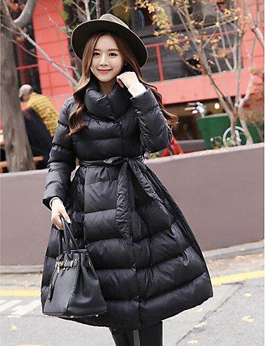 Da Wu Jia Ladies Cappotto donna Cappotto imbottito,semplice casuale/Daily Solid-Cotton polipropilene lungo il manicotto bianco / nero / grigio , s