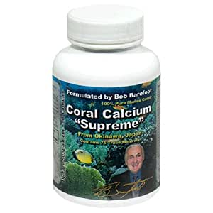 Coral Calcium Supreme 1000mg Formulated & Endorsed by Bob Barefoot 90 caps NEW Improved Formula