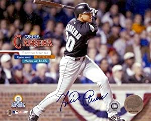 Miguel Cabrera Autographed Hand Signed 8x10 Photo (Florida Marlins) Image #1 2003... by Hall+of+Fame+Memorabilia