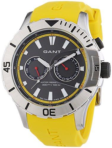 GANT TIME BOSTON Multi W70622 - Orologio da polso da uomo, cinturino in silicone colore giallo