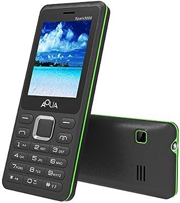 Aqua Spark 3000 - 3000 mAh Battery - Dual SIM Basic Mobile Phone - Black