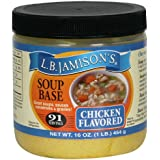 LB Jamison's Regular Soup Base, Chicken Flavored, 16-Ounce Jars (Pack of 6)