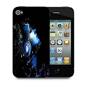 Snoogg Music Listener Designer Protective Phone Back Case Cover For Apple Iphone 4