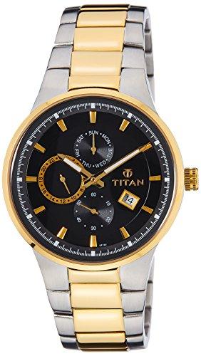 Titan Analogue Black Dial Men Watch