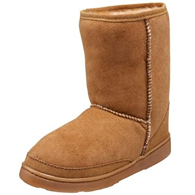 """(大促)迷你唐卡 Minnetonka Women's Short Pug 女士软羊皮9""""保暖靴 棕 折后$75.57"""