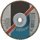 PFERD Polifan SG Abrasive Flap Disc, Type 27, Threaded Hole, Phenolic Resin Backing, Zirconia Alumina