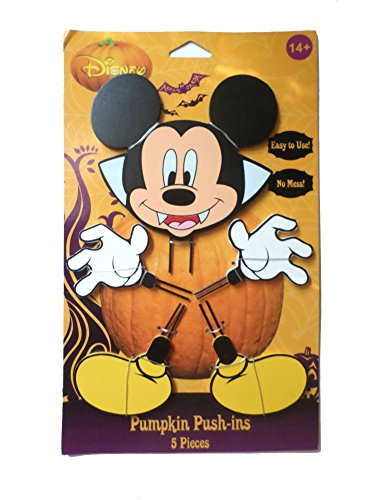 Mickey Halloween Wood Pumpkin Push-In 15 in