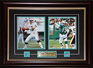 Dan Marino Miami Dolphins signed 2 photo Frame by Midway Memorabilia