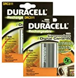 Duracell Replacement Digital Camera Battery for Canon BP-511 - Twin Pack