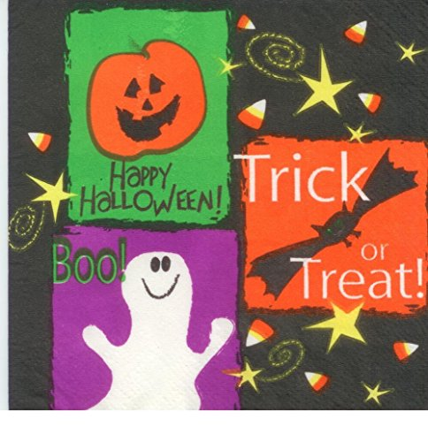 "Halloween ""Treats"" Napkins (6 1/2"" x 6 1/2"") - 16 cnt"