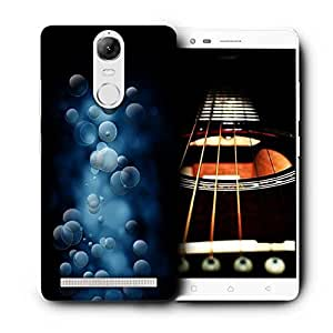 Snoogg Grey Bubbles Printed Protective Phone Back Case Cover For Lenovo K5 Note