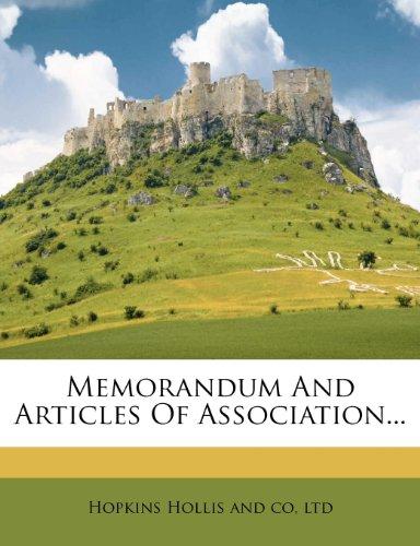 Memorandum And Articles Of Association...