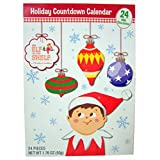 2016 Elf on the Shelf Advent Christmas Countdown Calendar with 24 Milk Chocolates