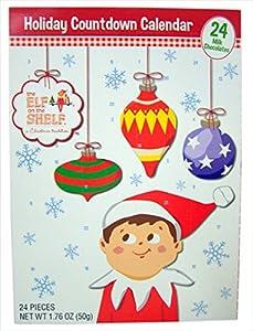 2016 Elf on the Shelf Advent Christmas Countdown Calendar with 24 Milk Chocolates