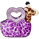 Aurora World Fancy Pals Plush Toy Pet Carrier, Giraffe Jungle Love