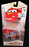 DISNEY INFINITY CLEAR LIGHTNING MCQUEEN CHASE VARIANT FIGURE- EXCLUSIVE RARE FIGURE