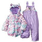 Zero Xposur Infant Girls Purple Leopard Spotted Snow Bibs & Coat Snowsuit