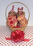 Scott's Cakes Small Valentines Day Classic Cookie Basket with Handle Heart Wrapping