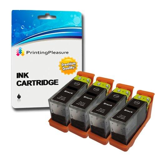 Printing Pleasure - 4 Schwarz Hohe Qualität Tintenpatrone NO.105XL kompatibel für Lexmark Drucker Pinnacle Pro 901, Platinum Pro 905, Prestige Pro 805