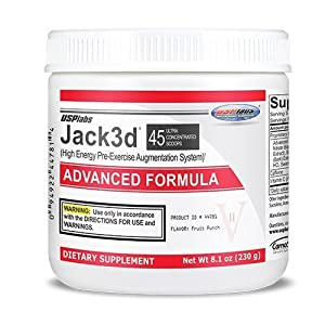 Usp Labs Jack 3D Advanced Formula Nutritional Supplements, Fruit Punch,
