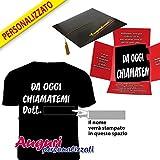 T-shirt PERSONALIZZABILE con il nome del laureato, un'idea regalo divertente e originale.