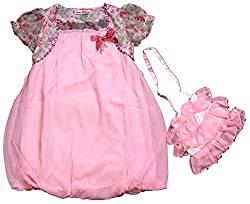 Noisy Rock Kids Frocks (NR0041_1, Pink, 7-8 Years)