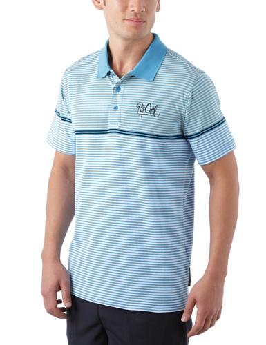 Ripit - Polo Stripe, Manica corta, Uomo, Blu (Dresden Blue), S