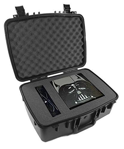 CASEMATIX Waterproof Rugged Airtight Video Game Console Travel Carry Case - Fits Playstation 4 PS4 System , Two Controllers , Games , Headset , Cables and More Gaming Accessories (Travel Gaming Console compare prices)