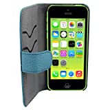 Suncia PREMIUM Leather2 Case / Leather cover for Apple iPhone 5C Classic Blue