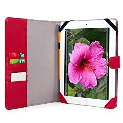 Kroo  iPad 4G LTE Leather Case - Magenta MELROSE