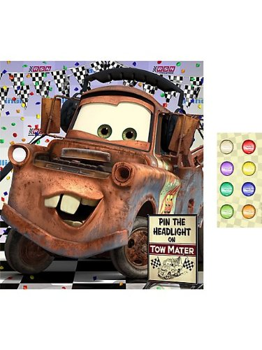 Hallmark - Disney Cars Dream Party - Pin the Headlight Party Game