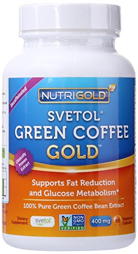 NutriGold Pure Green Coffee Bean Extract - 400 mg - Svetol - 90 Vegetarian Capsules - Weight-loss Supplement (Green Coffee Bean Extract 400 compare prices)