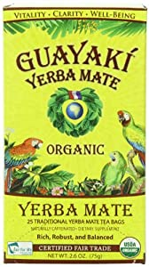 Guayaki Yerba Mate Organic Tea, 25-Count, 2.6oz