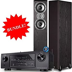 Denon AVR-S710W Bundle 7.2 Channel Full 4K Ultra HD A/V Receiver with Bluetooth and Wi-Fi + Polk Audio TSi300 Floor Standing Speakers (Pair)
