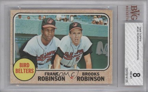 Bird Belters Brooks Robinson Frank Robinson Bvg Graded 8