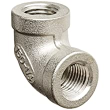 Stainless Steel 316 Cast Pipe Fitting, 90 Degree Elbow, Class 150, NPT Female