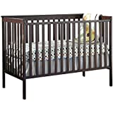 Stork Craft Sheffield Fixed Side Convertible Crib, Espresso, Pack of 1