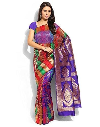 Silk Purple Indian Bollywood Women Basic Sari Saree