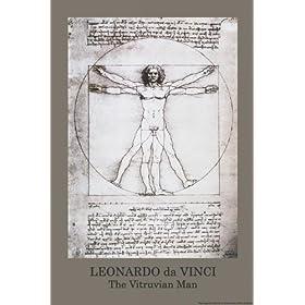 Leonardo Da Vinci (Vitruvian Man) Art Poster