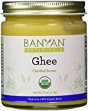 Banyan Botanicals Ghee - Certified Organic, 7.5 oz - The essence of milk - From grass-fed cows - Nourishing to tissues