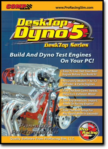 Competition Cams 186011 Pro Racing Sim Desk Top Dyno 5 Software (Tops Software compare prices)