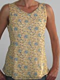 Floral Nursing Tank Top in Banana-Peri, 2X
