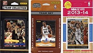 NBA San Antonio Spurs 3 Different Licensed Trading Card Team Sets by C&I Collectables
